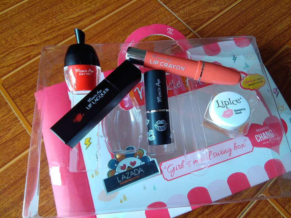 Bộ son Miracle Apo Girl's Mood Swing mixed by Changmakeup