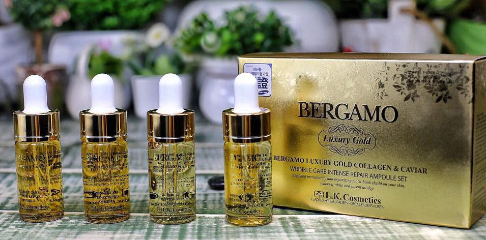 Tinh chất Bergamo Luxury Gold Collagen And Caviar