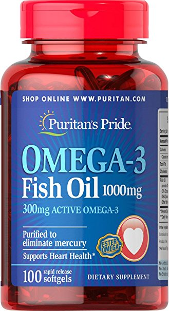 Puritan's Pride Omega-3 Fish Oil 1000mg